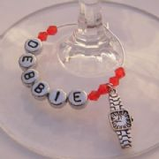 Watch Personalised Wine Glass Charm